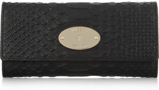 Mulberry Python-effect leather wallet