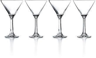 Martha Stewart CLOSEOUT! Collection Glassware, Set of 4 Rhodes Martini Glasses