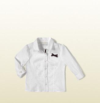 Gucci Web Bow Long Sleeve Shirt
