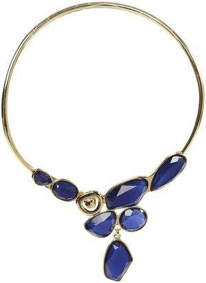 Arden B Asymmetrical Stone Coil Necklace
