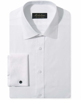 Michelsons Slim-Fit Chevron Textured French Cuff Tuxedo Shirt $75 thestylecure.com