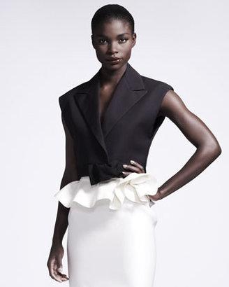 Lanvin Bow-Front Sleeveless Jacket