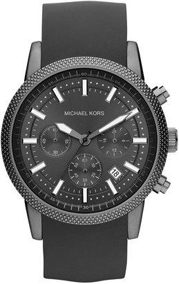 Michael Kors Men's Chronograph Scout Gray Silicone Bracelet Watch 43mm MK8241