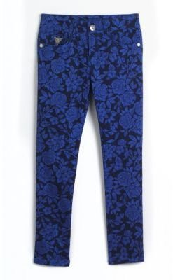 GUESS Girls 7-16 Floral Print Skinny Jeans