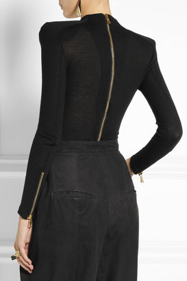 Balmain Keyhole wool and cashmere-blend top