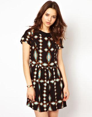 River Island Collar Waisted Dress