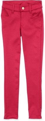 Un Deux Trois Ponte Four-Pocket Leggings, Pink