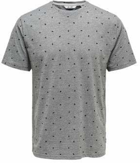 ONLY & SONS Ditsy-Print Cotton Blend Tee