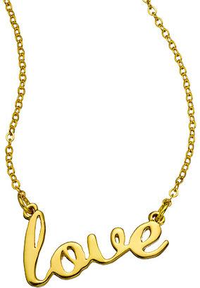 Erica Anenberg Love Script Necklace
