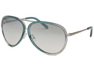 Calvin Klein Women's Aviator Teal Sunglasses