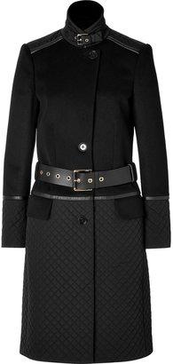 Salvatore Ferragamo Quilted Patchwork Coat in Black