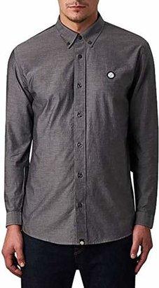 Pretty Green ELXG/4103/7831 Men's Oldbury Long Sleeve Regular Fit Casual Shirt