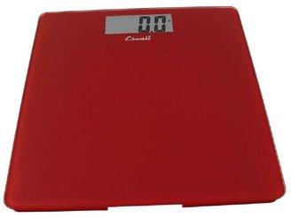 Escali Digital Glass Platform Bathroom Scale in Rio Red