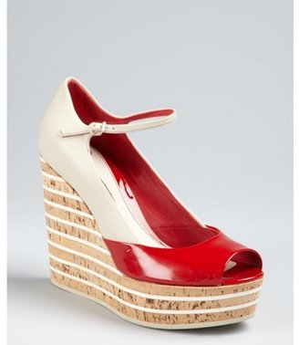 Gucci tabasco leather 'Eilin' open toe mary jane wedges