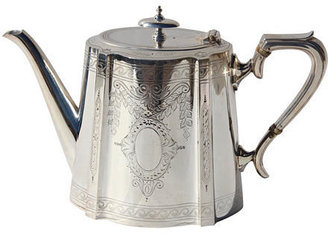 Corbell Silver Company Inc. Engraved English Teapot, C. 1860