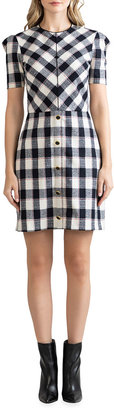 Shoshanna Chester Plaid Crepe Sheath Dress