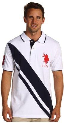 U.S. Polo Assn. Solid Polo w/ YD Under Collar (White) - Apparel