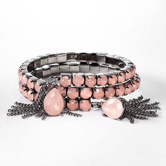Vera Wang Simply vera jet simulated crystal coil bracelet