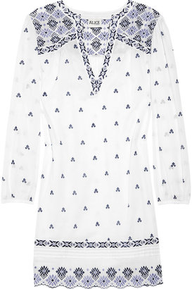ALICE by Temperley Armonia embroidered cotton-voile dress