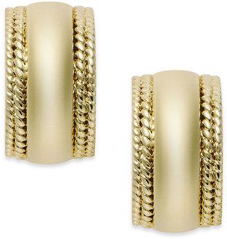 Charter Club Gold-Tone Clip-On Hoop Earrings