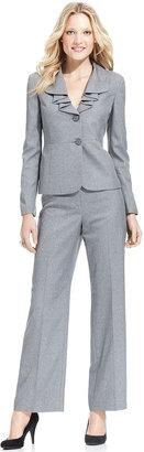 Le Suit Pantsuit, Draped-Collar Jacket & Pants