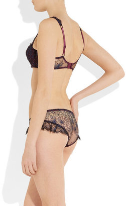 Agent Provocateur Soiree Errin Swarovski crystal-embellished lace push-up bra