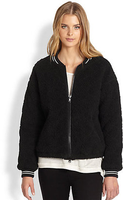 Elizabeth and James Sherpa Lena Quilted Fleece Varsity Jacket