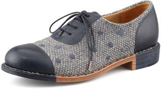 Angela The Office of Scott Mr. Dottie Embroidered Oxford, Navy