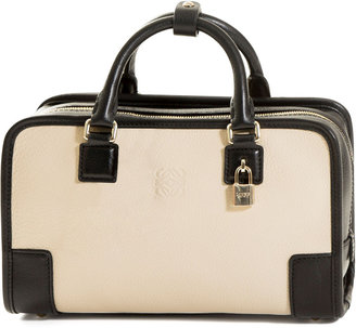 Loewe Amazona 23 Leather Bag, Stone/Black