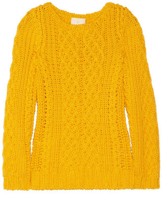 Band Of Outsiders Cable-knit cotton sweater