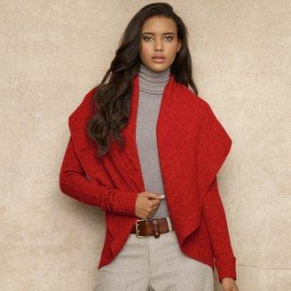 Ralph Lauren Blue Label Wool-Cashmere Circle Cardigan