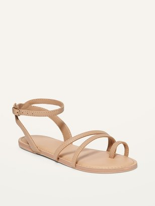 Old Navy Faux-Leather Strappy Sandals for Girls