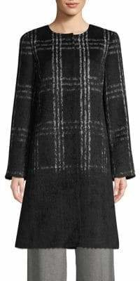 Eileen Fisher Roundneck Plaid Coat