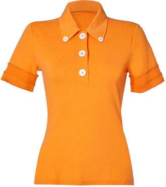 Steffen Schraut Sweet Papaya Gabriela Pique Polo Shirt