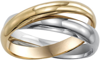 MODERN BRIDE Mens 3mm Two-Tone Stainless Steel Rolling Ring