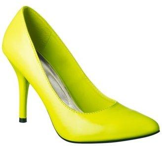 Mossimo Women's Vivian Pointy Heel - Neon Yellow