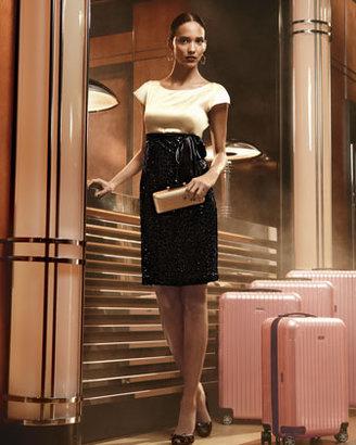Neiman Marcus Sequin-Skirt Dress