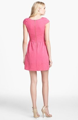 Collective Concepts Textured Fit & Flare Dress