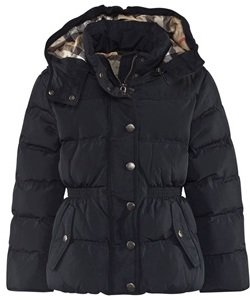 Burberry Navy Coat with Nova Lined Hood