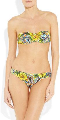 Dolce & Gabbana Printed underwired bandeau bikini