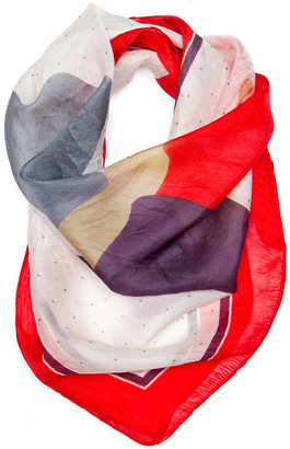MANGO TOUCH - Butterfly silk scarf