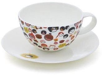 Crate & Barrel Laura Berger Designer Tea Cup