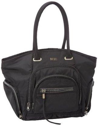 Diesel Zipem Up Sheen Zip Medium Shoulder Bag