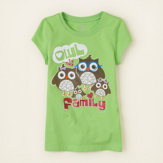 Children's Place Owl family graphic tee