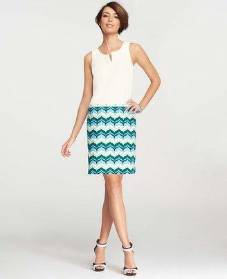 Ann Taylor Wave Print Shift Dress