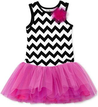 Rare Editions Little Girls' Chevron Tutu Dress