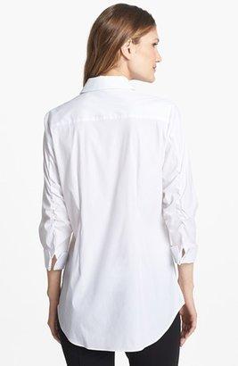 Paperwhite Gathered Sleeve Shirt