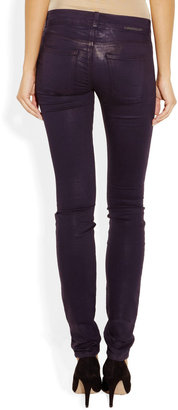 Current/Elliott The Jean Legging coated low-rise jeans
