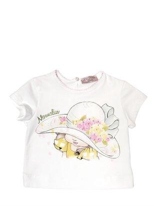 MonnaLisa Embellished Cotton Jersey T-Shirt