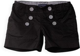 Pumpkin Patch Shiny Button Front Shorts